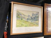 Sale 8856 - Lot 2093 - RMS Wells - Creek Warragamba, Watercolour SLL