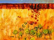 Sale 9002A - Lot 5055 - Terry Watts (1934 - ) - Pilbara Landscape #2 22.5 x 30 cm