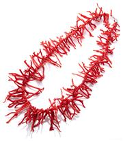 Sale 9083 - Lot 331 - A CORAL NECKLACE; 20-60mm branch corals to a silver barrel clasp, length 63cm.