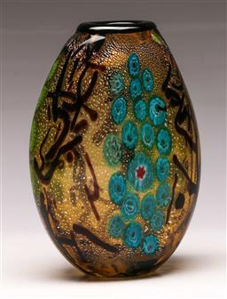 Sale 9114 - Lot 100 - An art glass vase (H 20cm)