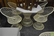 Sale 8287 - Lot 1089 - Five Piece Outdoor Suite incl. Four Chairs & Centre Table