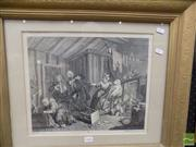 Sale 8458 - Lot 2059 - William Hogarth (1697 - 1764) - The Harlots Progress. Plate 5. Expires While the Doctors are Disputing. 30 x 37cm