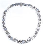 Sale 8346A - Lot 132 - A Vintage Indian silver belt; 424g
