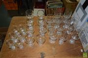 Sale 8509 - Lot 2204 - Collection of Corning Ware Oslo Glassware 1978 incl Wine, Champagne & Sherry Glasses