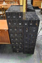 Sale 8550 - Lot 1075 - Vintage Banks of P.O. Boxes x 3