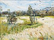 Sale 8565 - Lot 535 - Celia Perceval (1949 - ) - Untitled (Landscape With Birds) 53.5 x 73cm