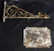Sale 8600A - Lot 76 - A cast iron shop sign with bracket, L 70cm.