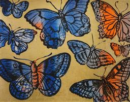 Sale 8794A - Lot 5033 - David Bromley (1960 - ) - Butterflies 54.5 x 74cm