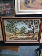 Sale 8645 - Lot 2030 - Penny Lyras - Flinders Ranges Landscape oil on canvasboard 50 x 75cm signed lower right