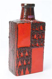 Sale 8670 - Lot 10 - Scheurich West German Square Form Bottle Vase (H 30cm)