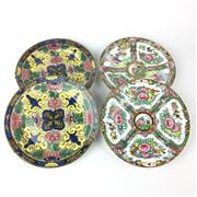 Sale 8739C - Lot 66 - Pair Of Famile Rose Cabinet Plates Together With Two others