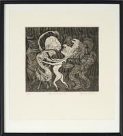 Sale 8828 - Lot 2013 - George Gittoes (1949 - ) - Blind Dance 19.5 x 22cm