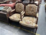 Sale 8896 - Lot 1087 - Pair of Victorian Tapestry Upholstered Armchairs