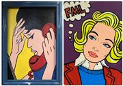 Sale 8981 - Lot 2041 - A Pop Art Style Painting The Bewildered Phone Call & FML (double-sided) acrylic on board, 105 x 75cm (frame)