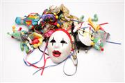Sale 9057 - Lot 23 - A Collection Of Clown Figures And A Mask