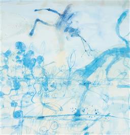Sale 9112A - Lot 5055 - John Olsen (1928 - ) - Morning at the Lily Pond, 1997 64 x 61.5 cm (frame: 93 x 84 x 4 cm)