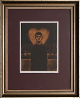 Sale 9127 - Lot 2070 - Geoffrey Ricardo (1964 - ) - Aura, A Hearts Verse Suite 29 x 22 cm (frame: 60 x 50 x 3 cm)