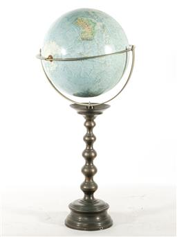 Sale 9144 - Lot 8 - Globe on brass base (H:78cm)