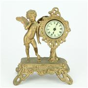 Sale 8314 - Lot 3 - Ansonia Gilt Cherub Clock