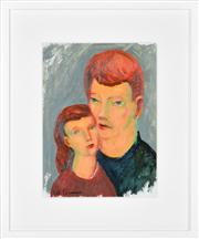 Sale 8389 - Lot 572 - Bill Coleman (1922 - 1993) - Untitled (Siblings) 32.5 x 24cm