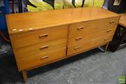 Sale 8409 - Lot 1007A - Teak Multi-Drawer Chest with Three Short and Three Long