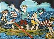 Sale 8781A - Lot 5052 - David Bromley (1960 - ) - 4 Young Pirates 55 x 74.5cm