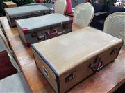 Sale 8672 - Lot 1091 - Collection of Three Vintage Suitcases
