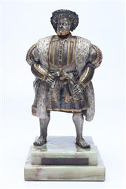 Sale 8689 - Lot 98 - Bronze figure of Henry VIII