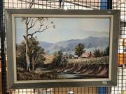 Sale 8836 - Lot 2080 - Marcia Kirby - Country Landscape, oil on board, signed, 40x60cm