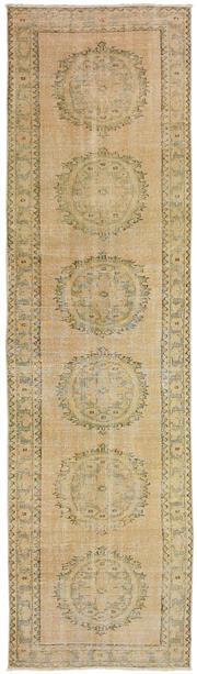 Sale 8871H - Lot 115 - A Cadrys vintage Turkish Oushak C1960 in handspun wool. 297 x 80cm