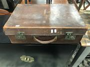 Sale 8876 - Lot 1071 - Vintage Leather Suitcase