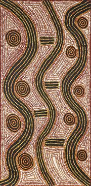Sale 8901 - Lot 599 - Andrew Spencer Tjapaltjarri (1954 - ) - Untitled 101 x 51 cm (stretched and ready to hang)