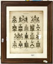 Sale 8941 - Lot 2080 - Heraldry Engraving 28x12cm