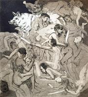 Sale 8996A - Lot 5031 - Paul Ashton Delprat (1942 - ) - Mac Dathos Pig, 1978 53 x 46.5 cm