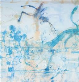 Sale 9112A - Lot 5034 - John Olsen (1928 - ) - Morning at the Lily Pond, 1997 64 x 61.5 cm (frame: 93 x 84 x 4 cm)
