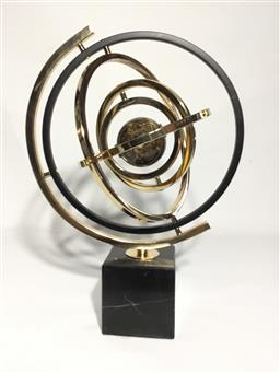Sale 9175G - Lot 60 - Armillary Globe Decoration On Marble Stand .General Wear,Size 42cm H
