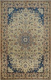 Sale 8402C - Lot 11 - Persian Nain Silk & Wool 206cm x 130cm