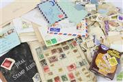 Sale 8635 - Lot 89 - Box of Assorted Stamps inc Early Albums