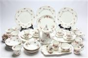 Sale 8677 - Lot 12 - Royal Albert Lavender Rose Dinnerwares with Another Royal Albert Part Set (Some Wear and Repairs to Teapot, A.F.)