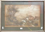 Sale 8678 - Lot 2048 - E Andurell - Country Scene, 1906, pencil, 36.5 x 49.5cm (frame size), signed and dated lower right