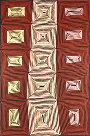 Sale 8786 - Lot 555 - Ronnie Tjampitjinpa (c1943 - ) - Tingari Cycle 180 x 120cm (stretched and ready to hang)