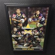 Sale 8828 - Lot 2060 - North Queensland Cowboys Star Series, framed