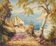 Sale 8938 - Lot 577 - Reginald Jerrold Nathan (1899 - 1979) - Hermit Point, Vaucluse, 1930s 50 x 60 cm