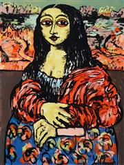 Sale 8968A - Lot 5021 - Yosi Messiah (1964 - ) - Hey Mona Lisa 100 x 75 cm