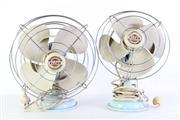 Sale 8980 - Lot 22 - Pair of Elcon Desk Fans (H:38cm)