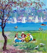 Sale 9002A - Lot 5002 - Gerrard Lants (1927 - 1988) - Meeting for Lunch 27 x 25 cm