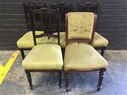 Sale 9006 - Lot 1081 - Set of Four Edwardian Carved Back Dining Chairs together with a Another (H:90 x W:44cm)