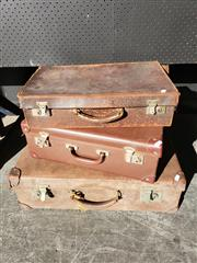 Sale 9026 - Lot 1049 - Three Vintage Suitcases