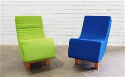 Sale 9134 - Lot 1069 - Pair of Scandinavian apostrophe chairs (h:78 x w:45 x d:85cm)