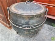 Sale 8447 - Lot 1021 - Lidded Cauldron